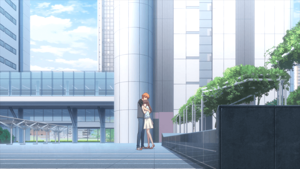 Kyo holding Tohru (Fruits Basket Season 3 Episode 12)