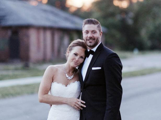 Mina Starsiak and husband