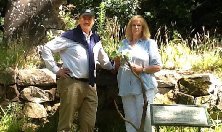 John Challis with wife