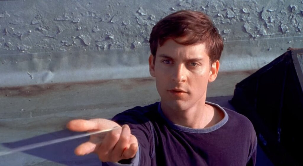 Tobey Maguire' Spider-Man Organic Webbing