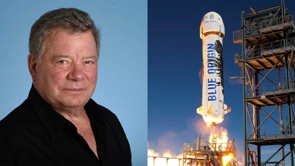 William Shatner Jeff Bezos' Blue Origin