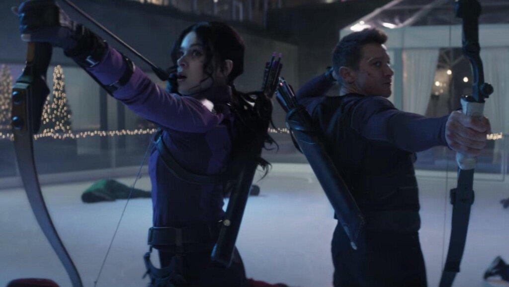 Hawkeye wearing hearing aids