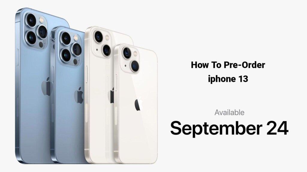 Apple iphone 13 pre-order